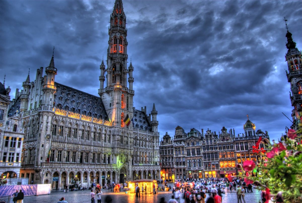 The Grand Place and Town Hall 1200