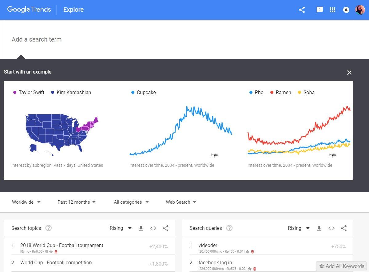 menggunakan google trends explore
