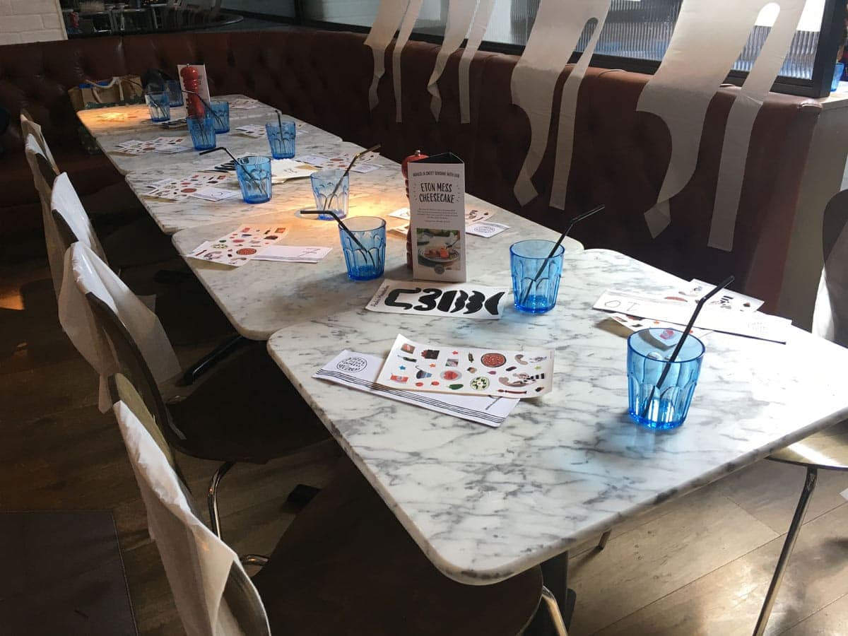 Pizza Express Party Tables