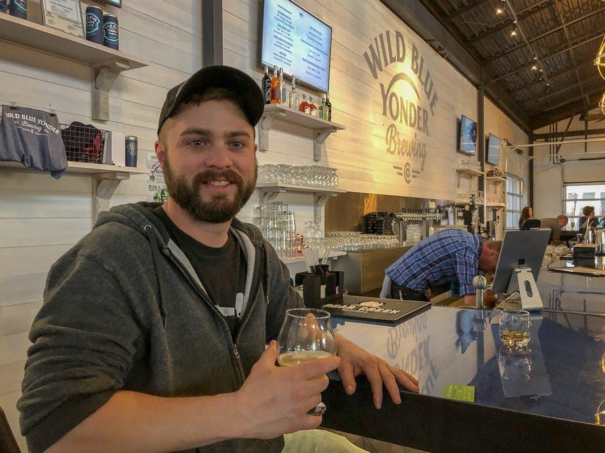 Wild Blue Yonder Head Brewer, Robert Connelly