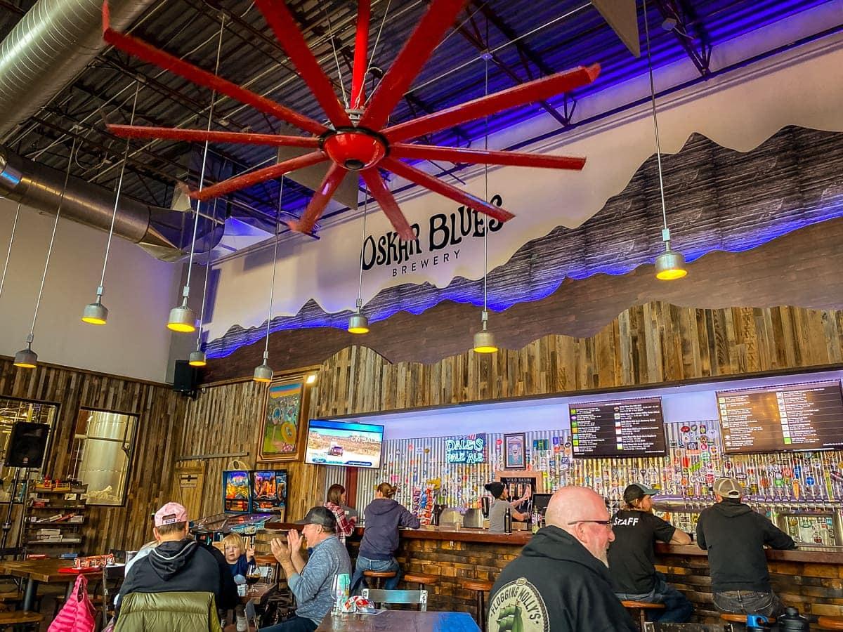 Oskar Blues Brewery's Tasty Weasel taproom in Longmont, Colorado (2020)