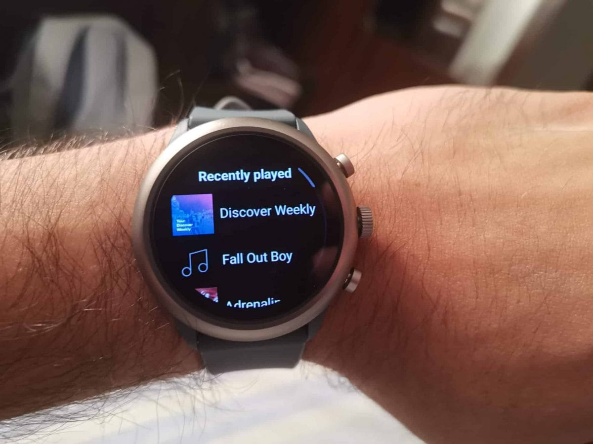 spotify no smartwatch