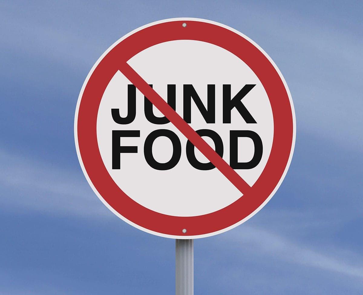 no sugar, processed food sign