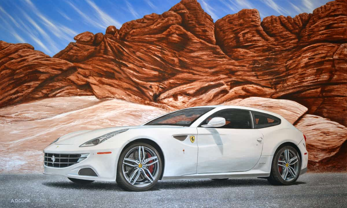 Fast Forward - Ferrari FF painting by A.D. Cook