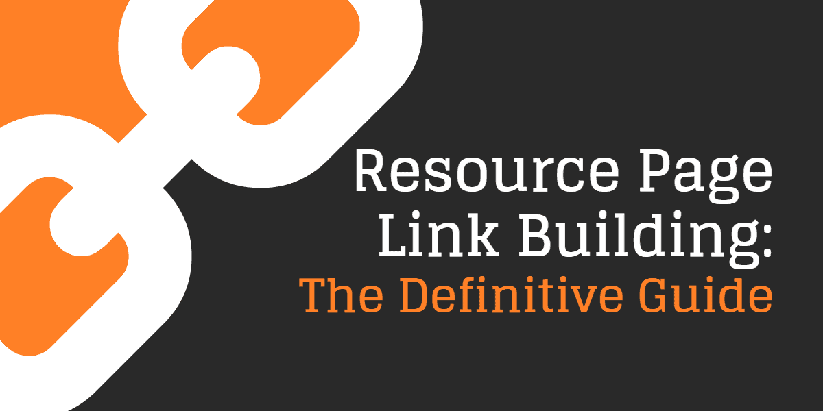 Resource page link building