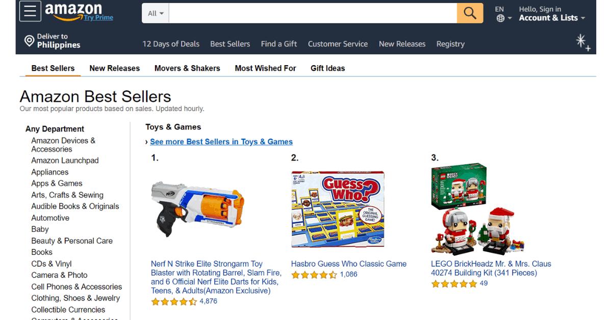 Amazon - Best Sellers