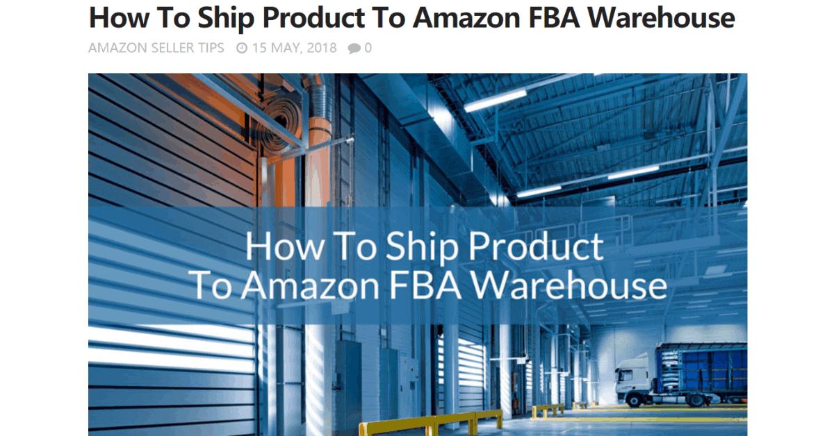 Amazon - FBA Warehouses