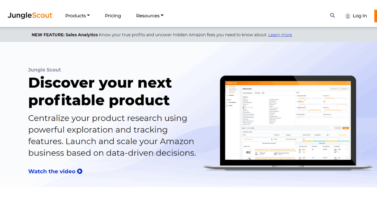 Jungle Scout - Tools to Research Amazon Products