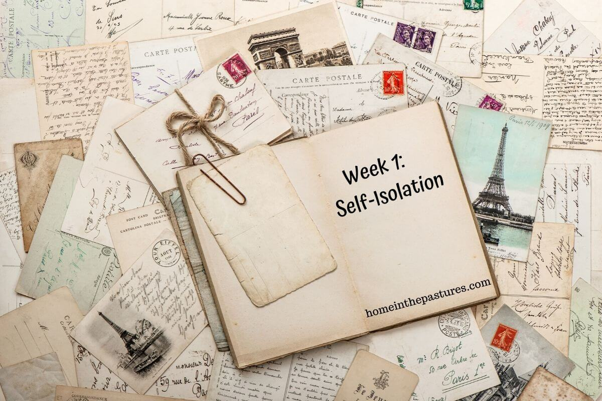 The End of Week 1 - Self Isolation