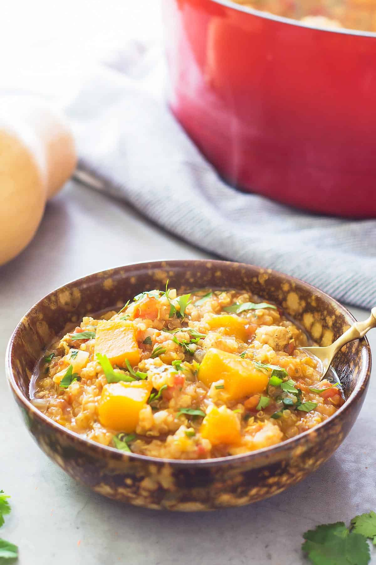 Butternut Chicken Slow Cooker Stew