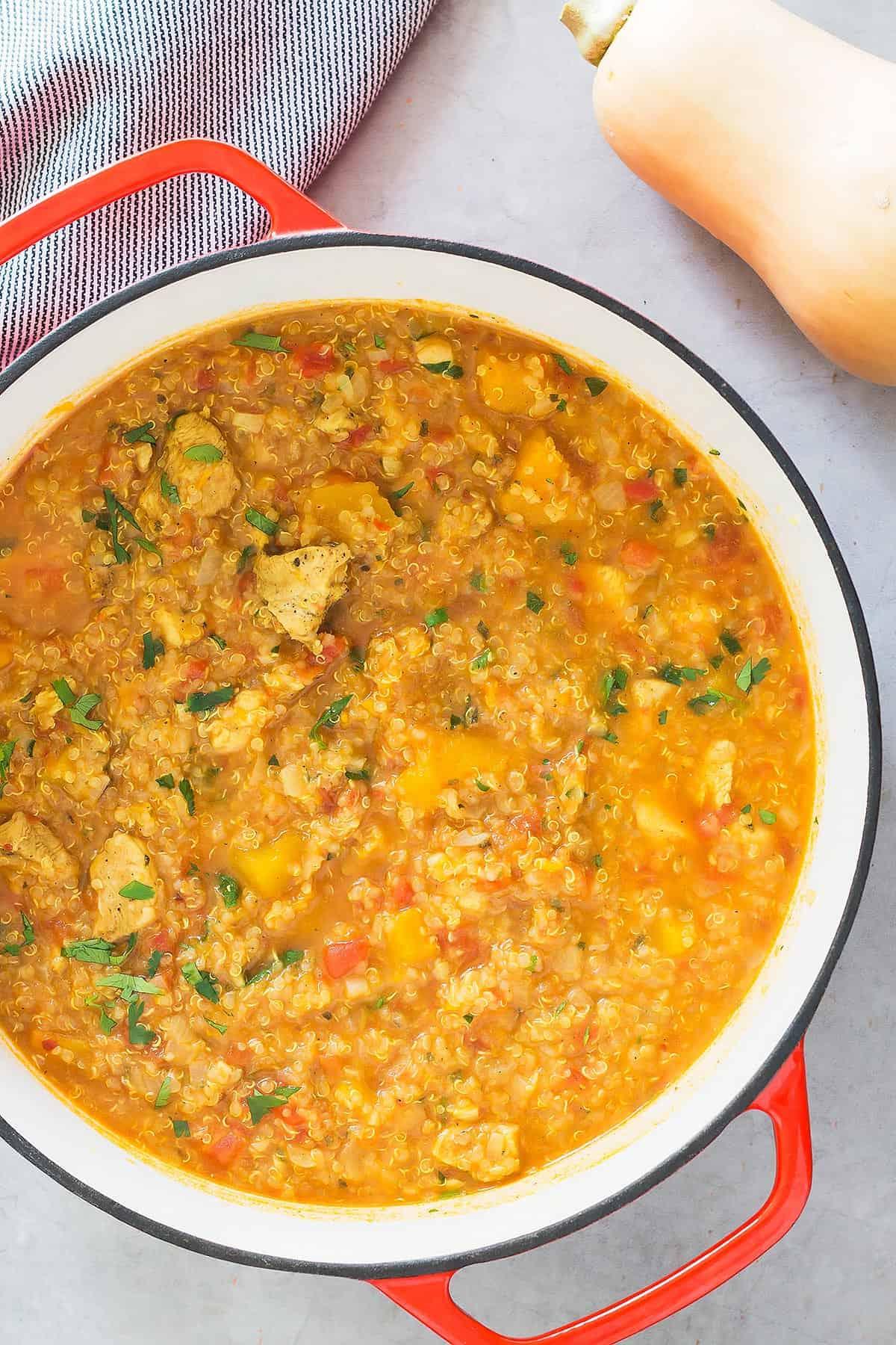 Chicken Butternut Squash Stew