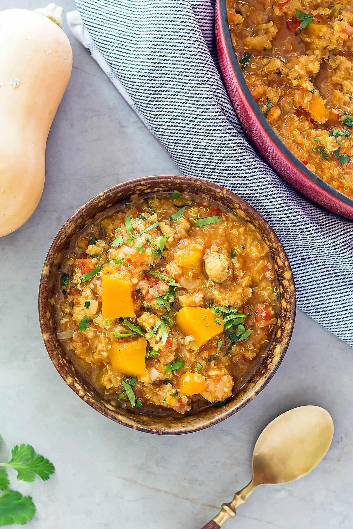 Butternut Squash Soup Chicken Quinoa