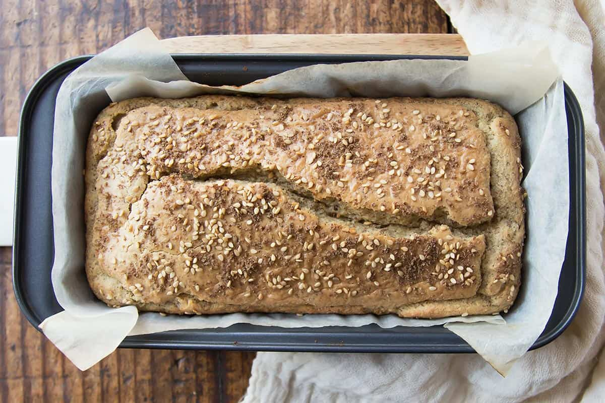 Coconut Flour Bread in Pan