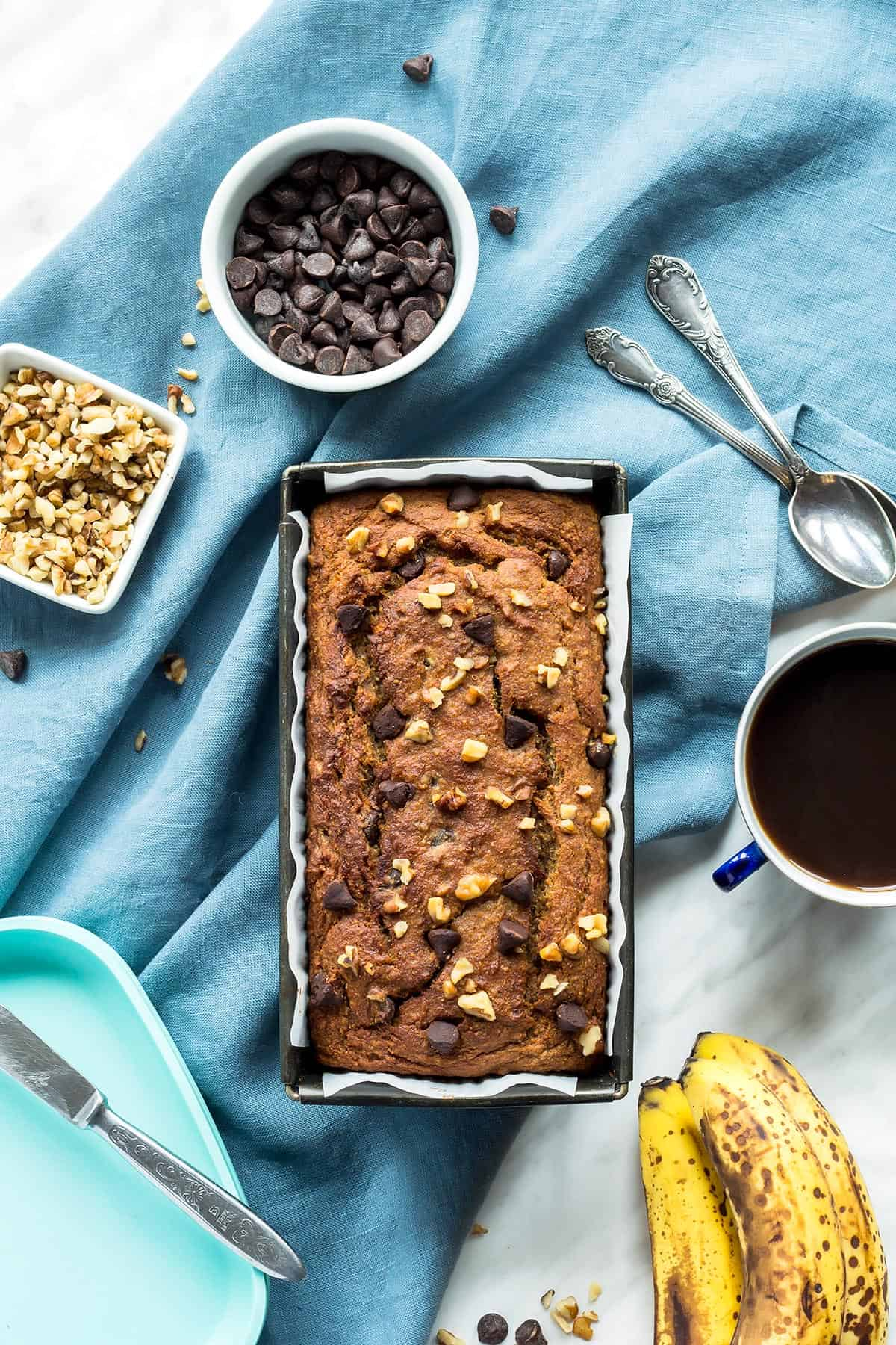 Coconut Banana Bread in Pan