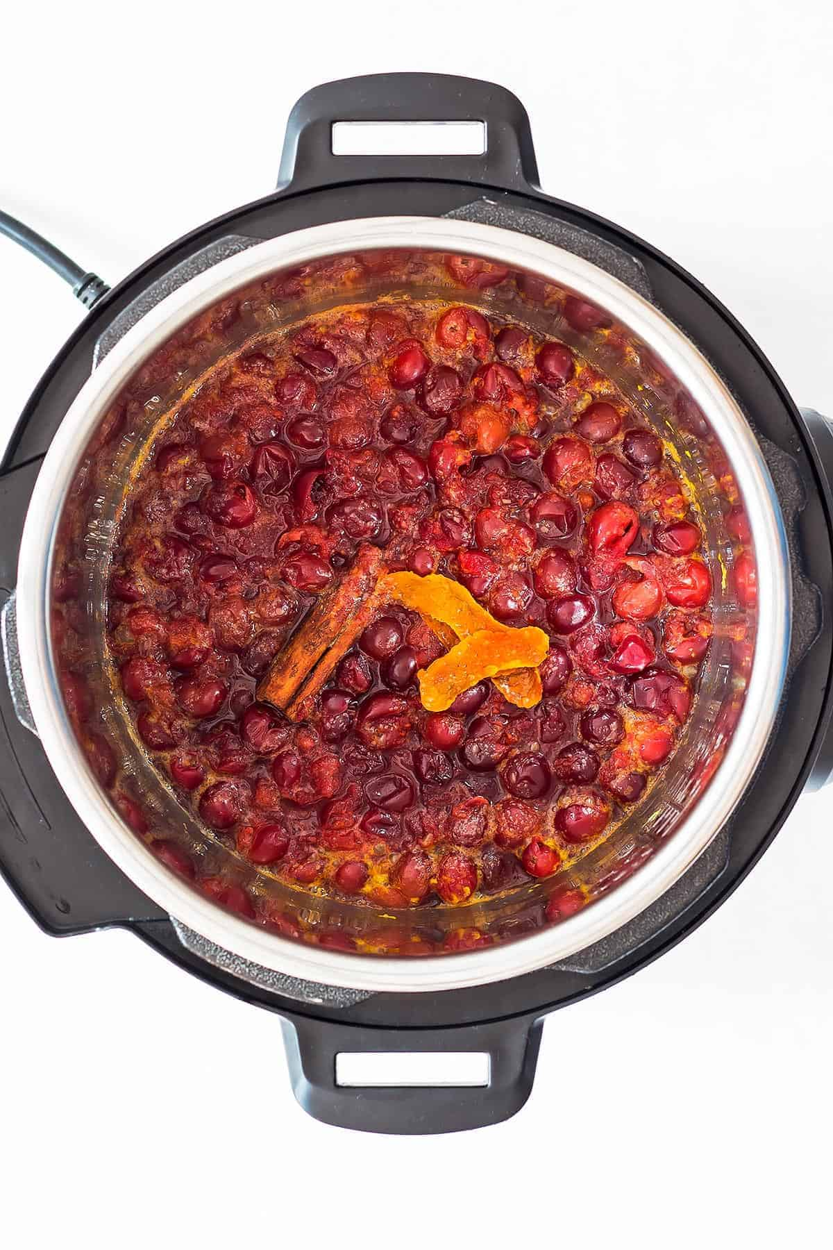 Cooked Instant Pot Cranberry Sauce