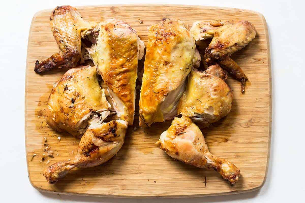 Carved Roasted Chicken Pieces