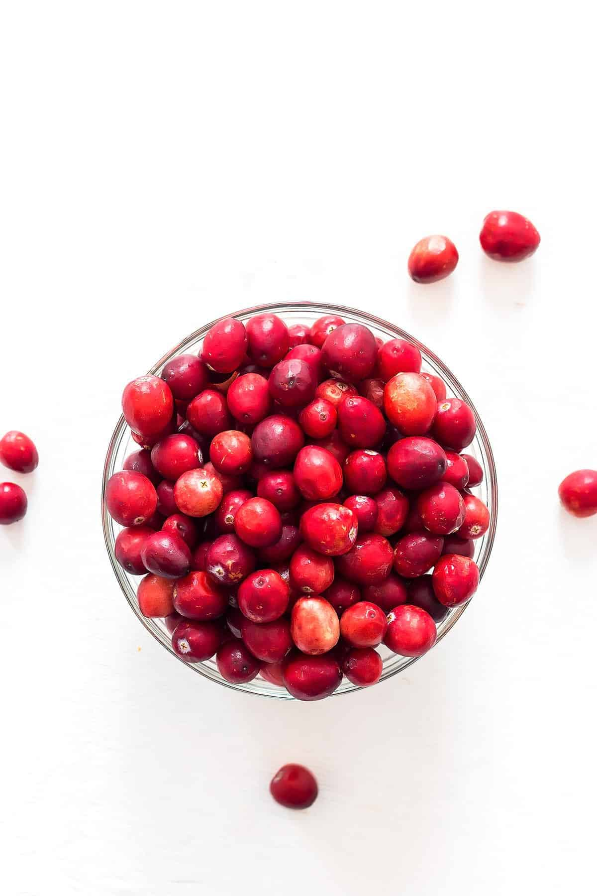 Fresh Cranberries in a Bowl