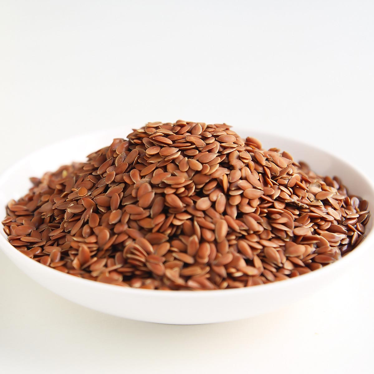 Flax seeds in a bowl for flax egg recipe