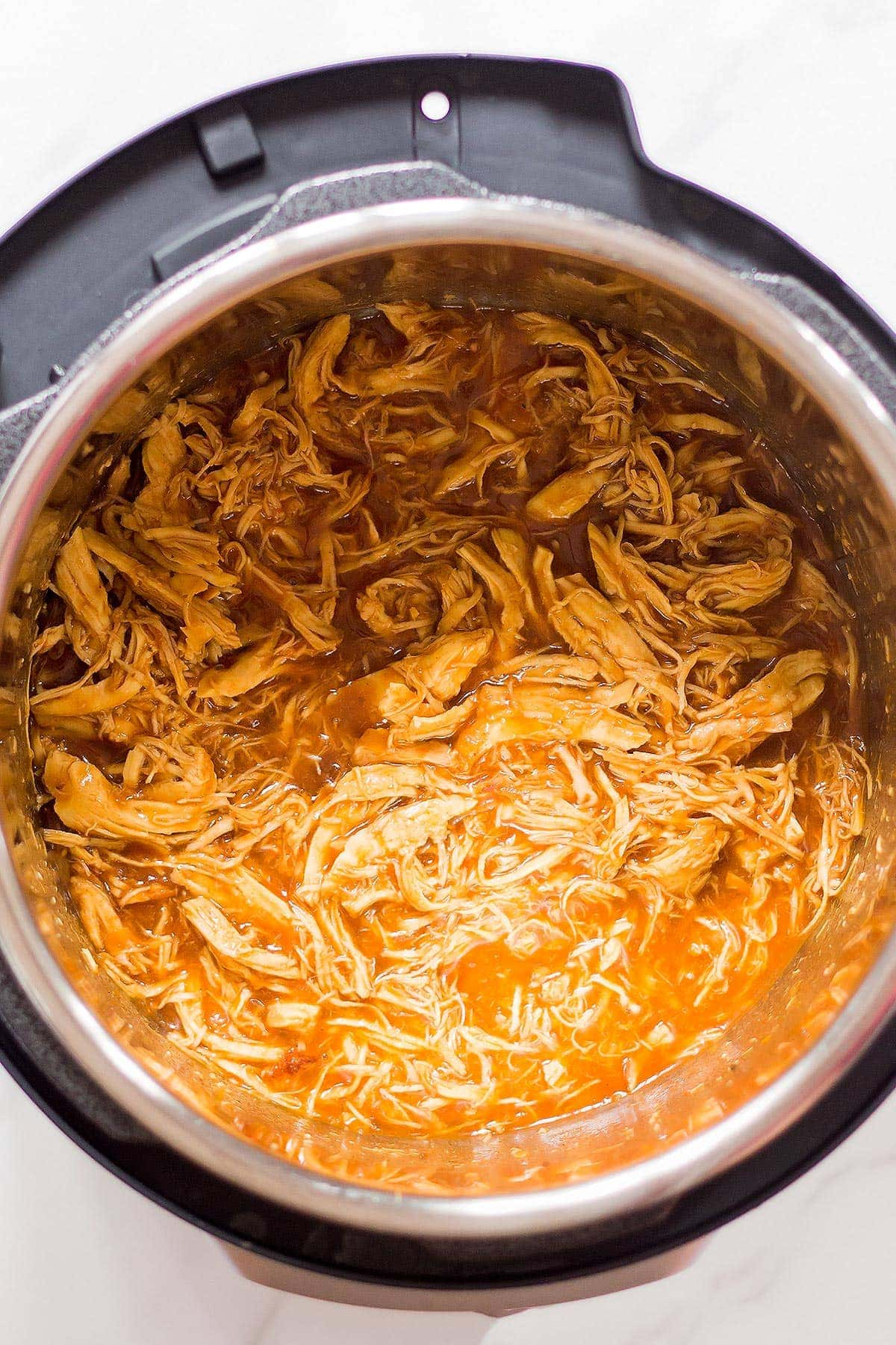 Shredded BBQ Chicken in Pressure Cooker