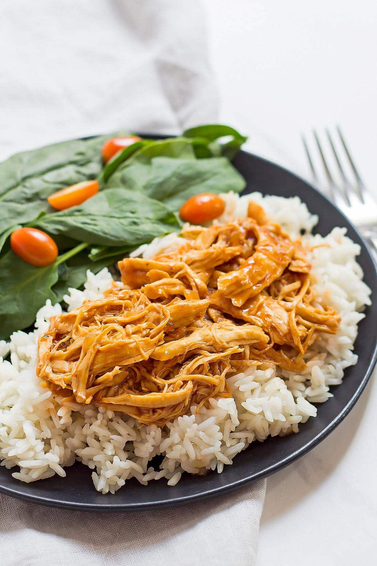 Pressure Cooker Pulled Chicken with Rice