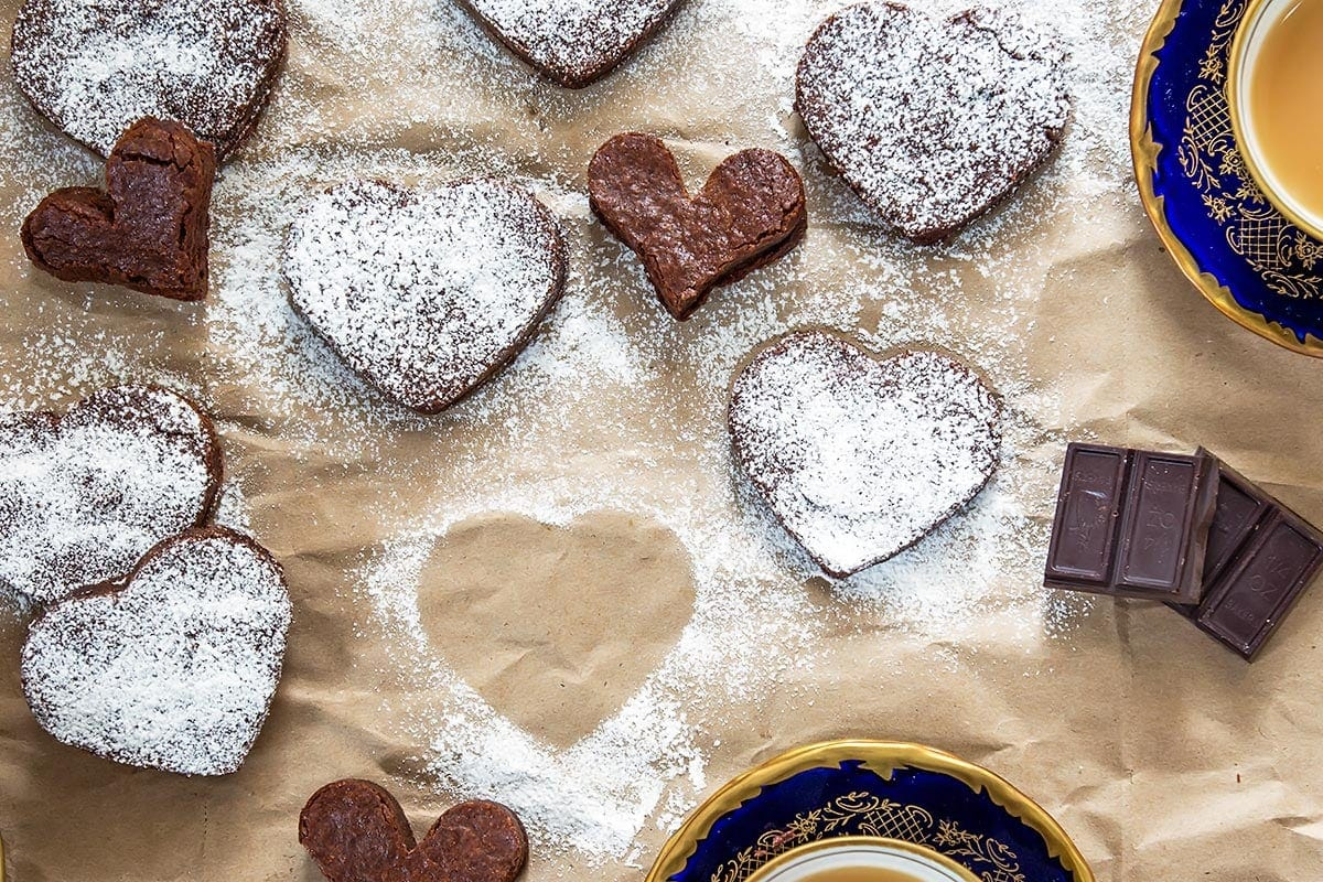 Heart Shaped Healthy Brownies