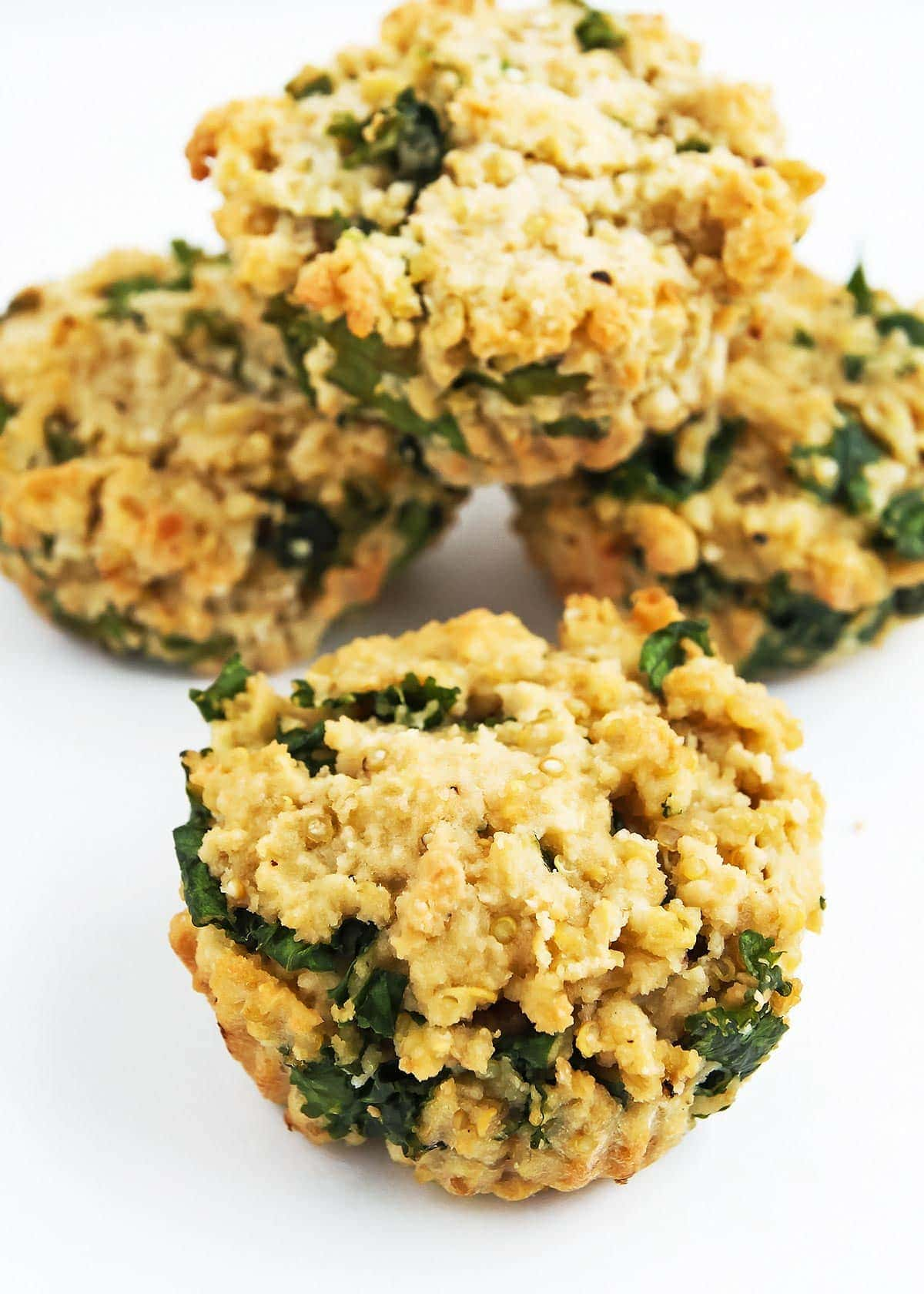 Stack of Quinoa Muffins with Kale