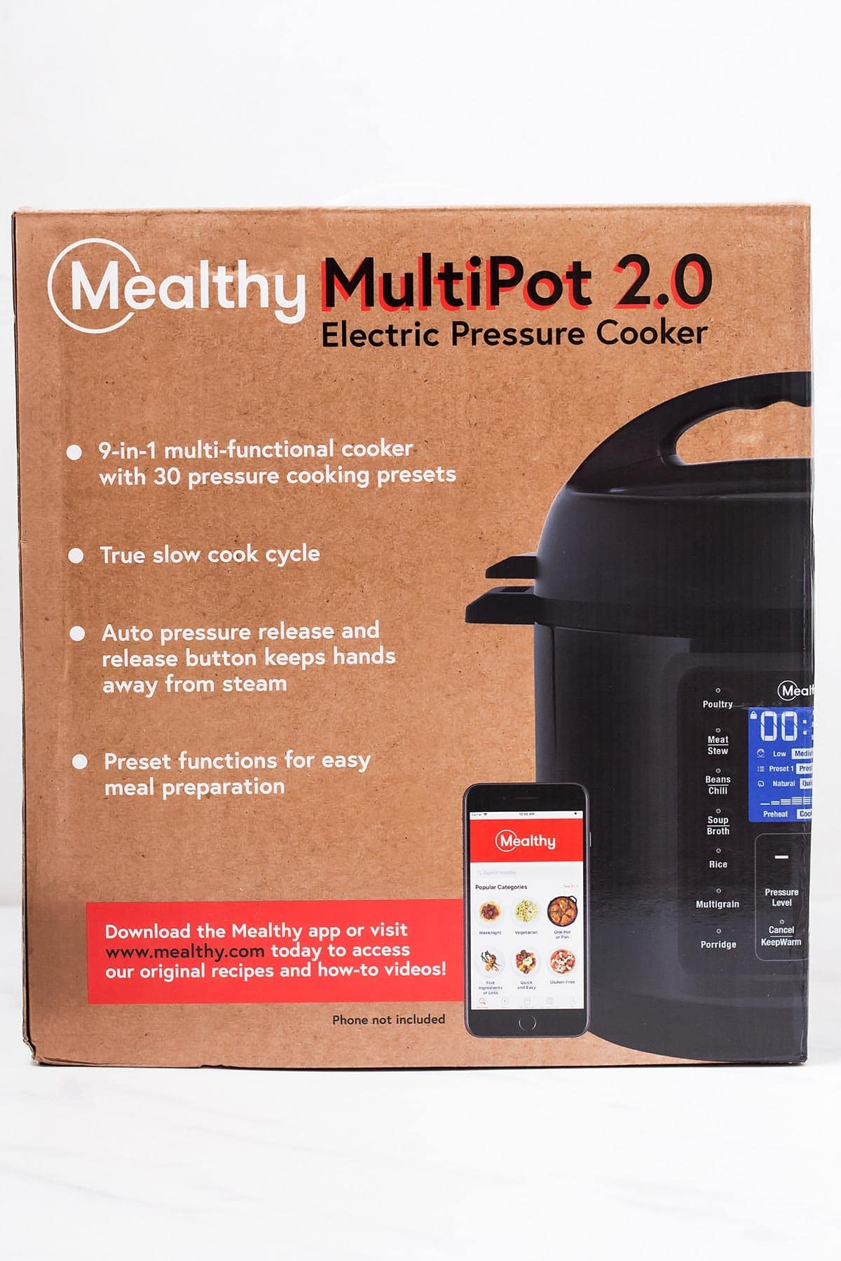 Mealthy Pressure Cooker in the box