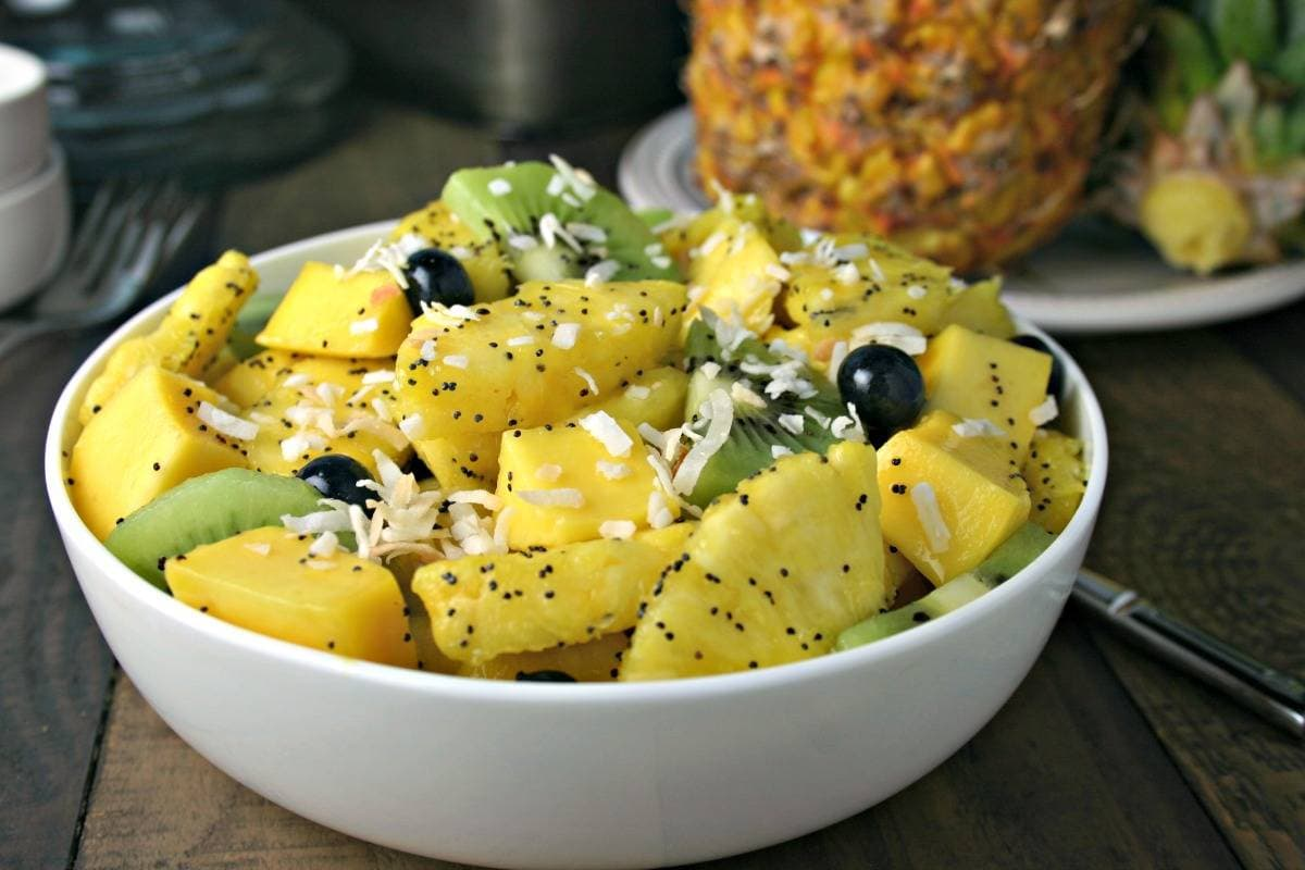 Tropical Fruit Salad with Honey Lime Dressing | Life, Love, and Good Food