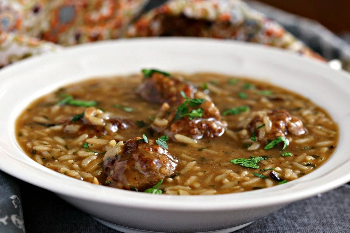 PORK MEATBALL & WILD RICE SOUP | Life, Love, and good food