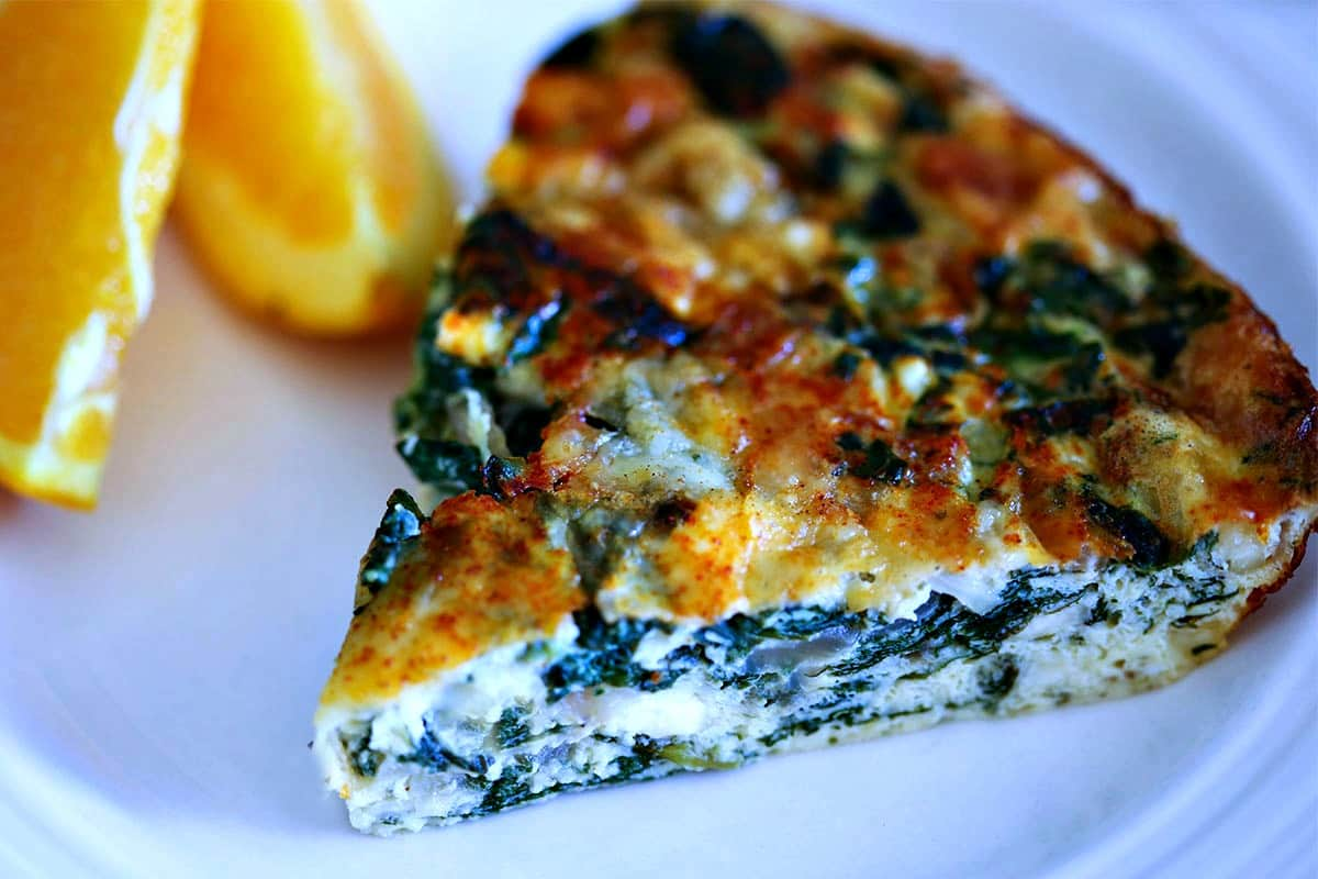 Crustless Spinach Quiche | Life, Love, and Good Food