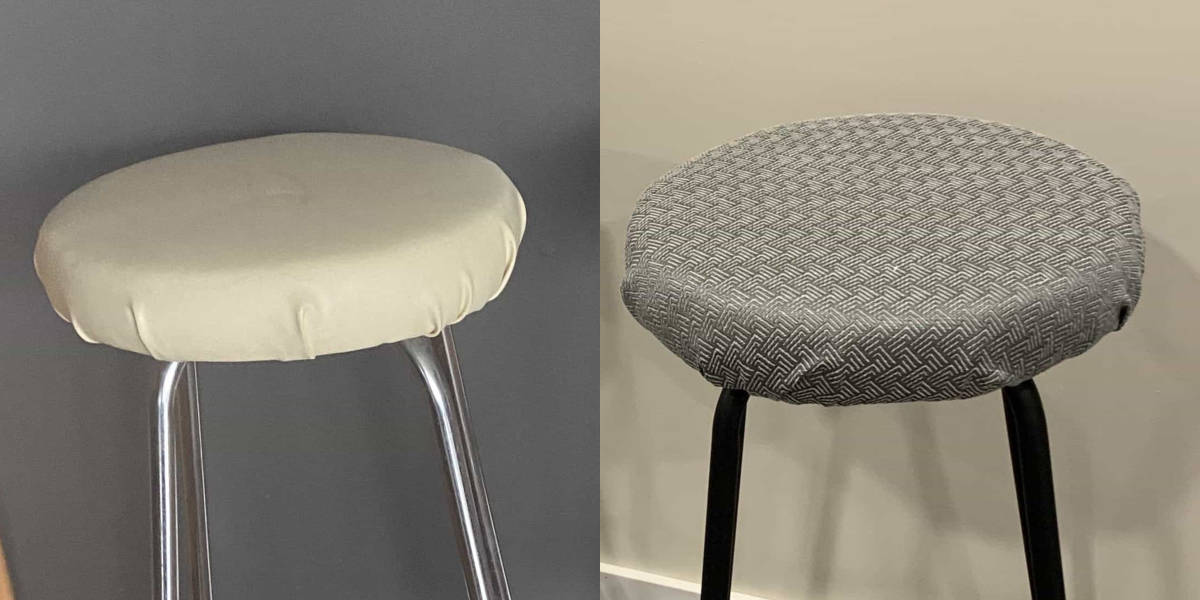 how to reupholster a bar stool