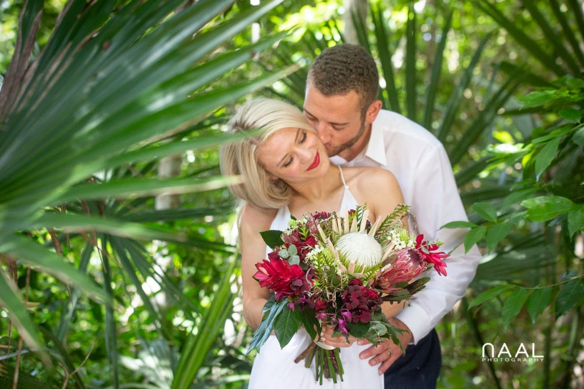Private cenote elopement in Riviera Maya, Mexico. Naal Wedding Photography