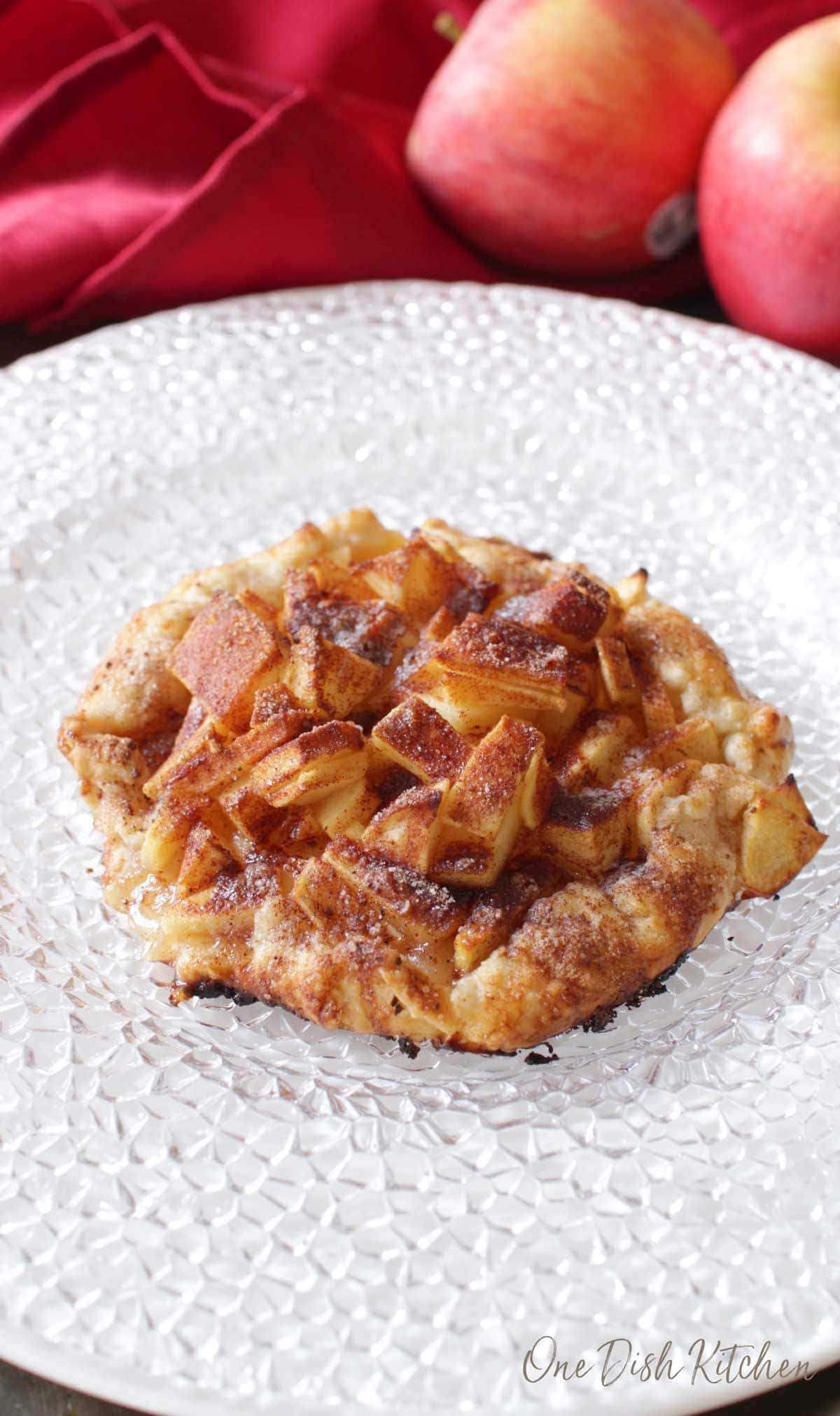 an apple galette on a plate | one dish kitchen