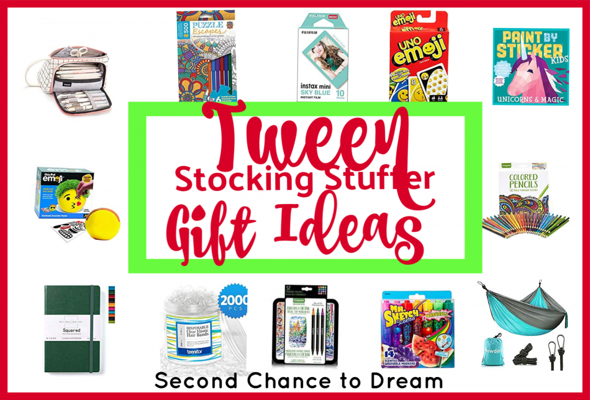 Second Chance to Dream: Tween Stocking Stuffer Gift Ideas You'll love these inexpensive tween stocking stuffer gift ideas #stockingstuffers #tweens #Christmas
