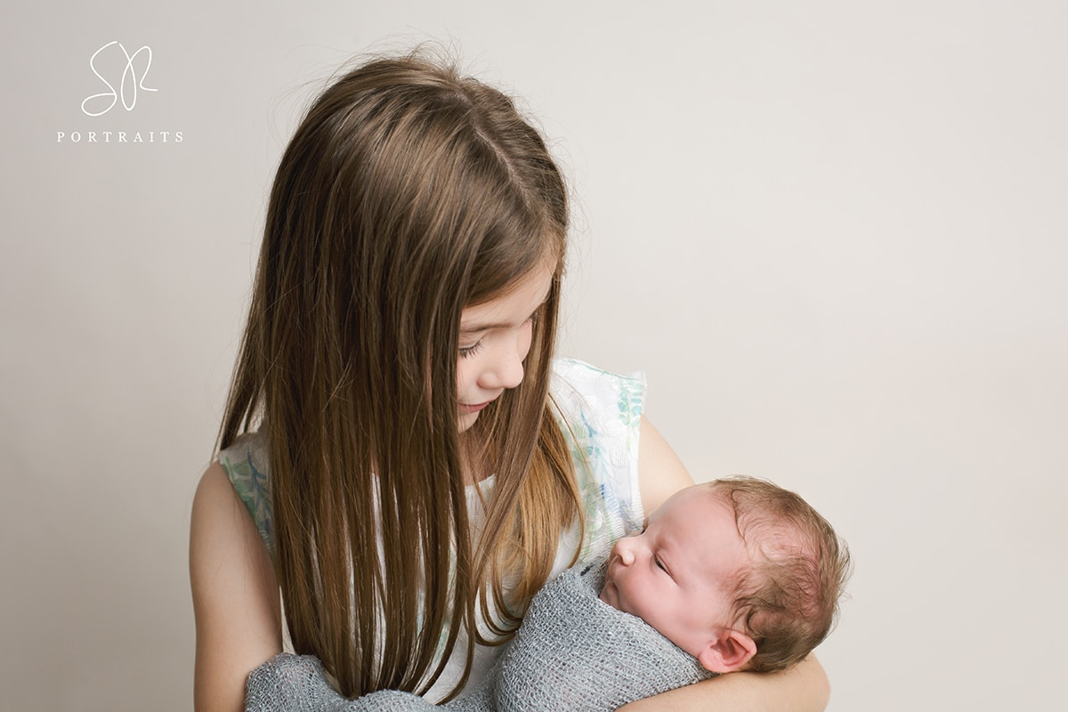 Coalville Newborn Photography with sister