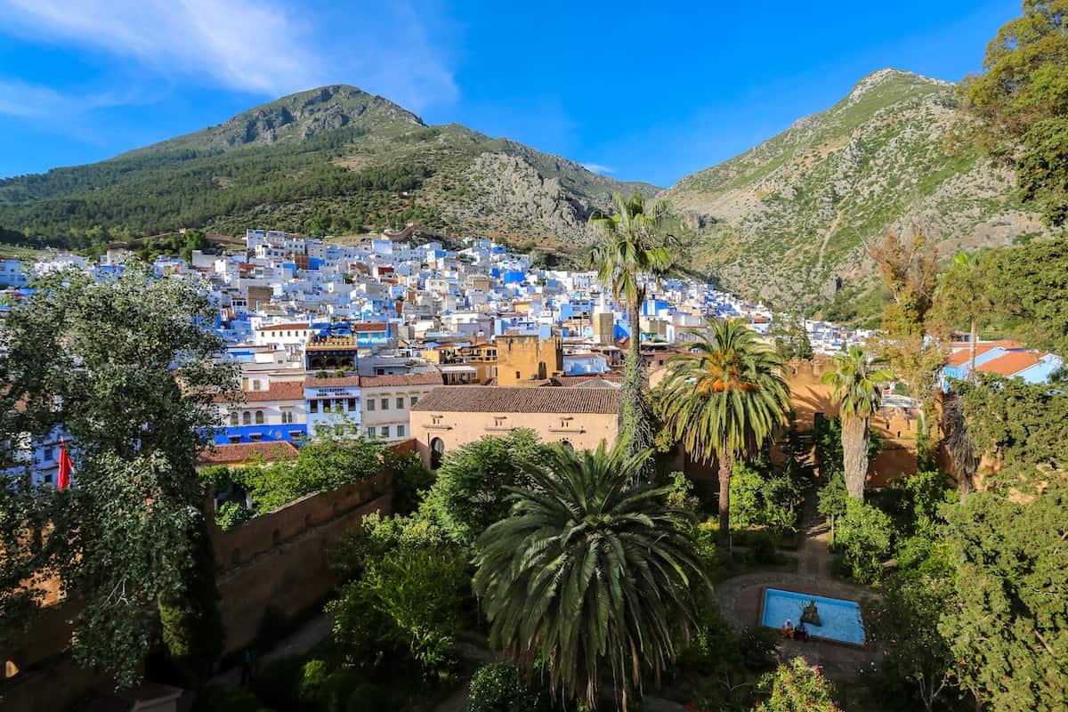 Vista Panorámica de Chefchaouen, Marruecos