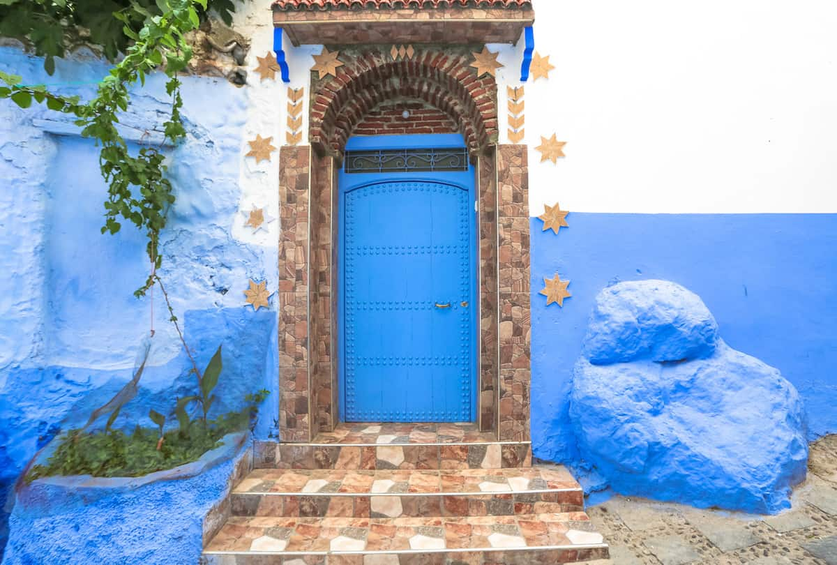 Chefcaouen blue door with stars