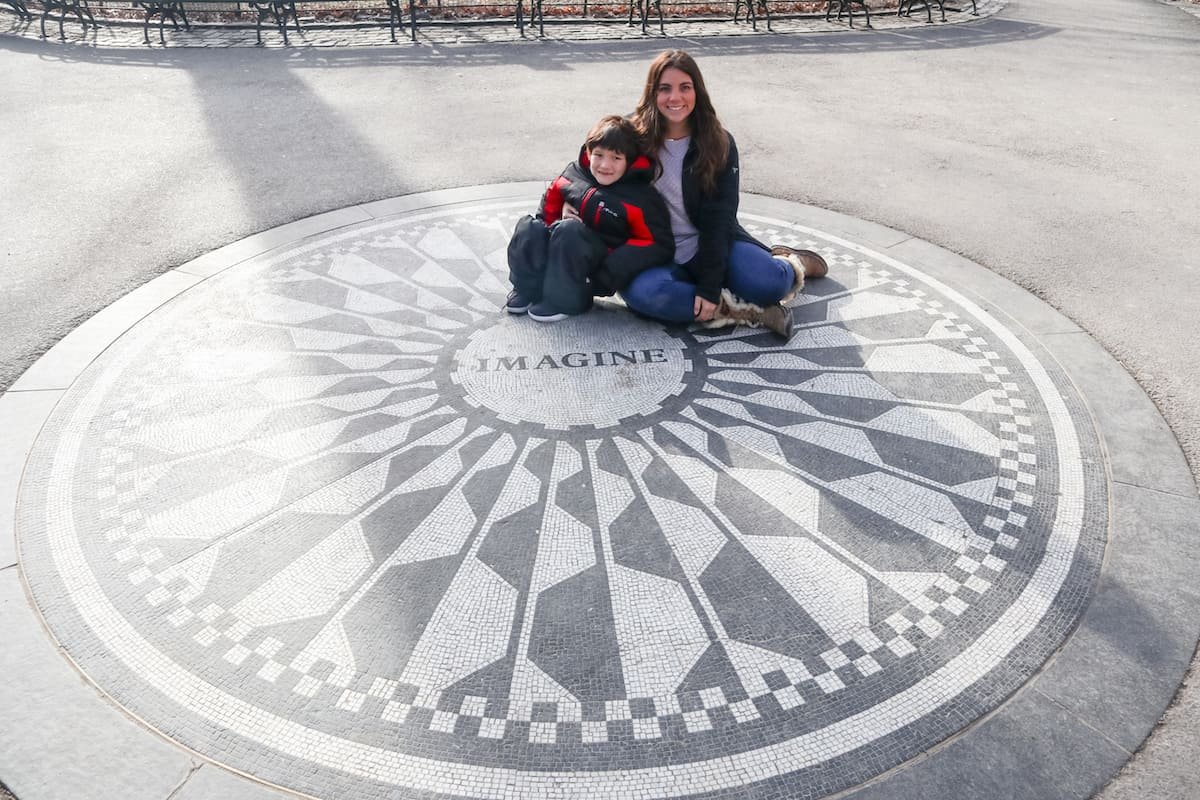 Strawberry Fields Forever Memorial in Central Park NYC