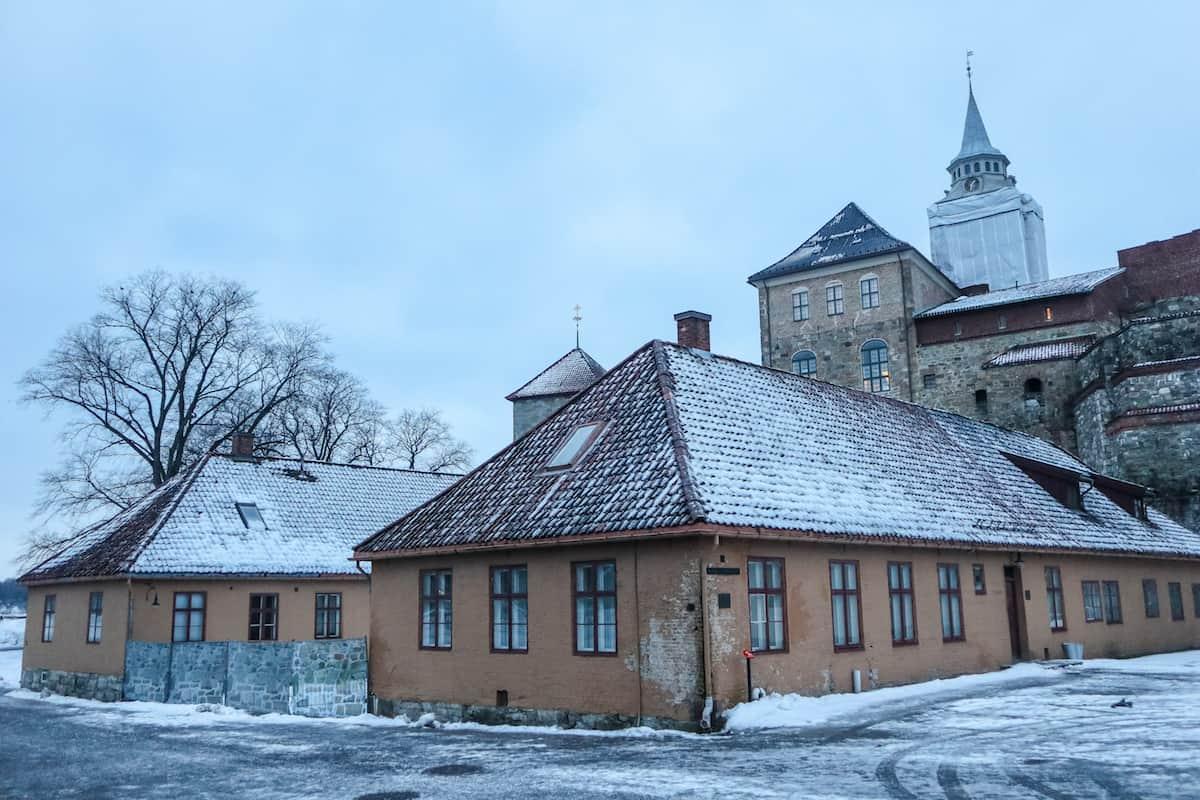 Akershus Fortress in Oslo - Oslo en Invierno