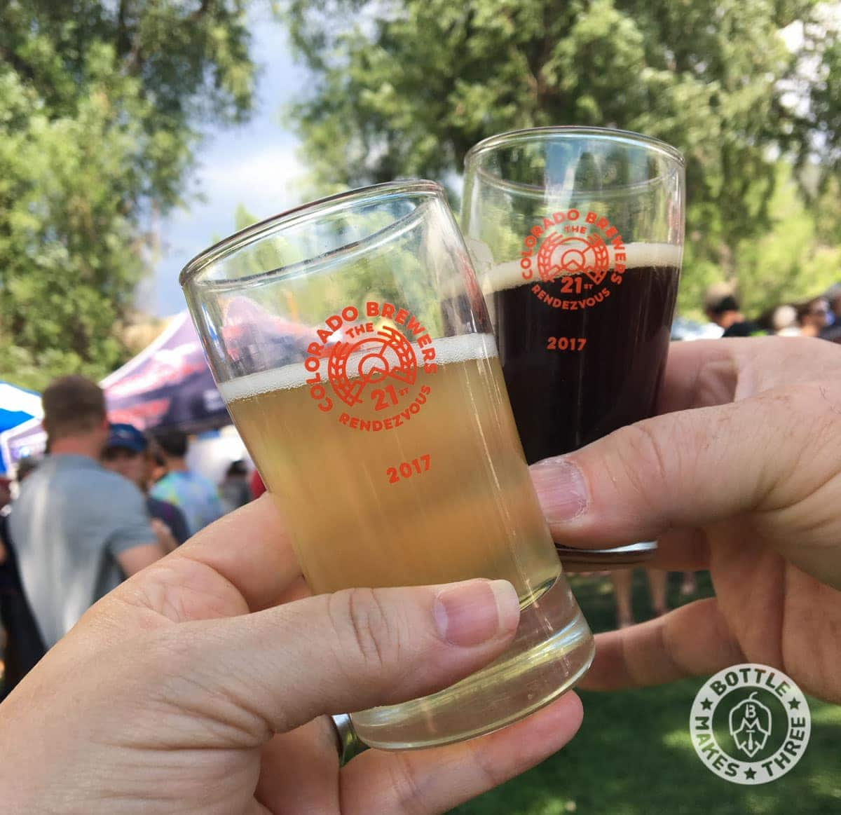 Cheers from the Colorado Brewers Rendezvous, in Salida Colorado | BottleMakesThree.com