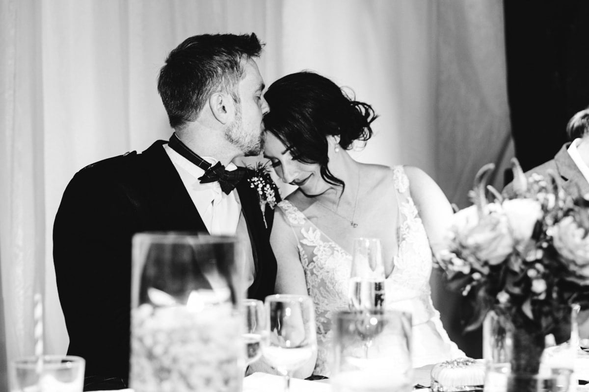 romantic bride and groom moment