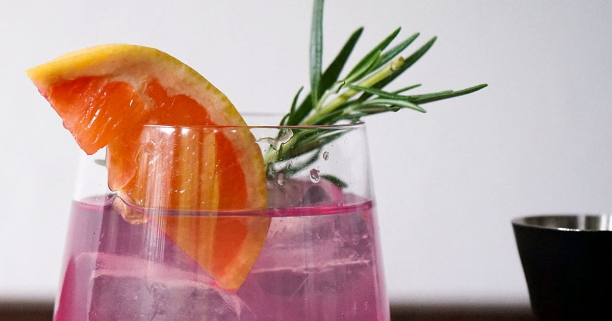 Pink Tonic Cocktail