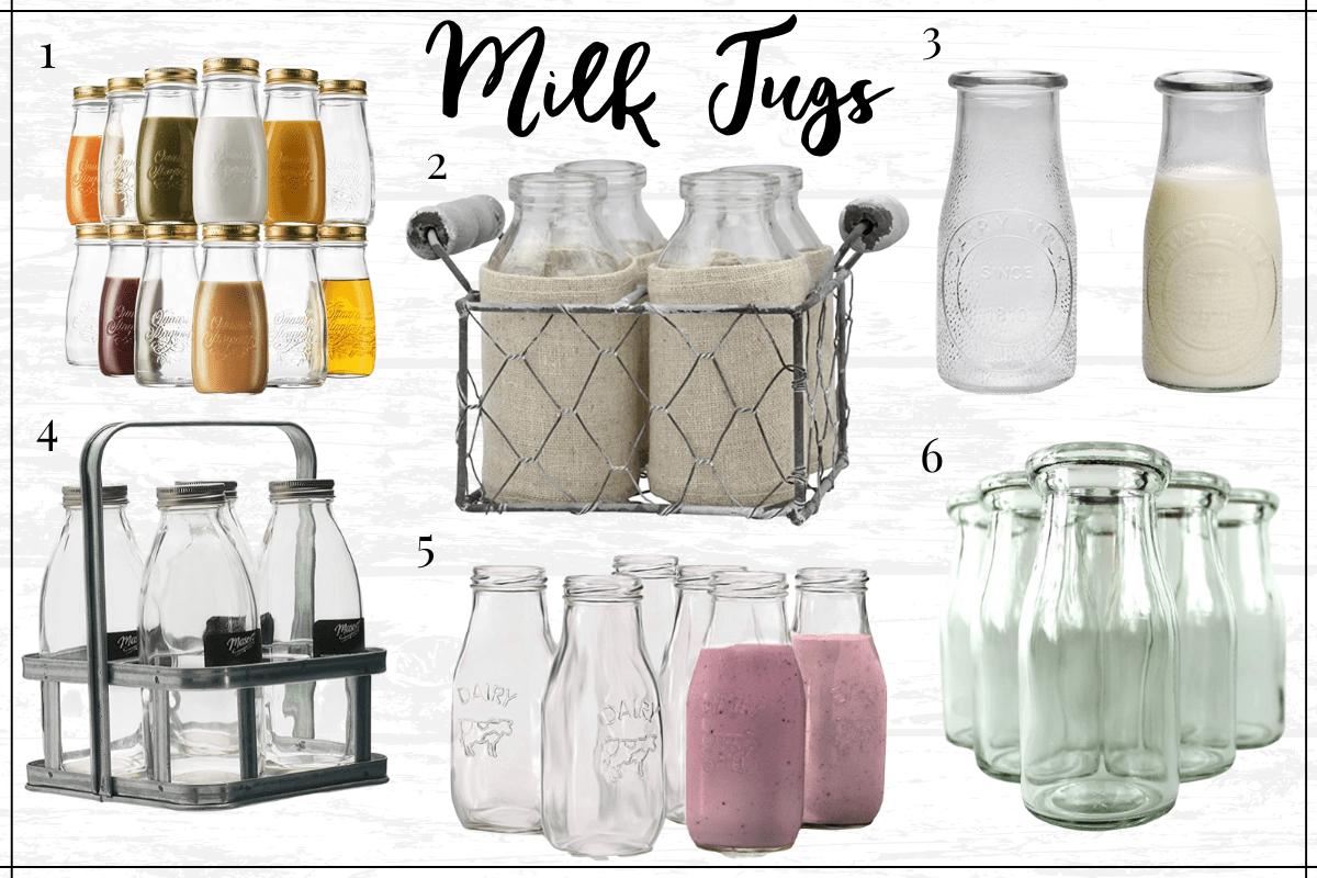 Farmhouse Kitchen Decor finds - farmhouse milk jugs