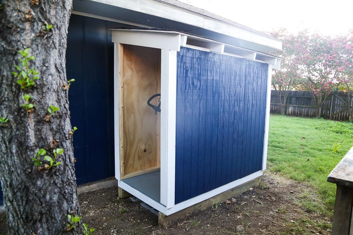 How to build a DIY lawn mower shed.