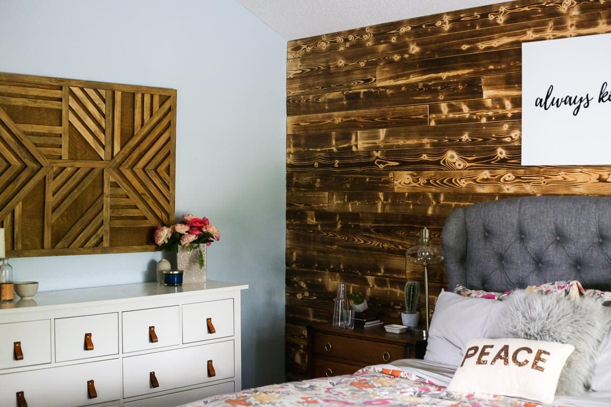 How to use Home Depot's appearance boards to create a beautiful DIY wood planked accent wall
