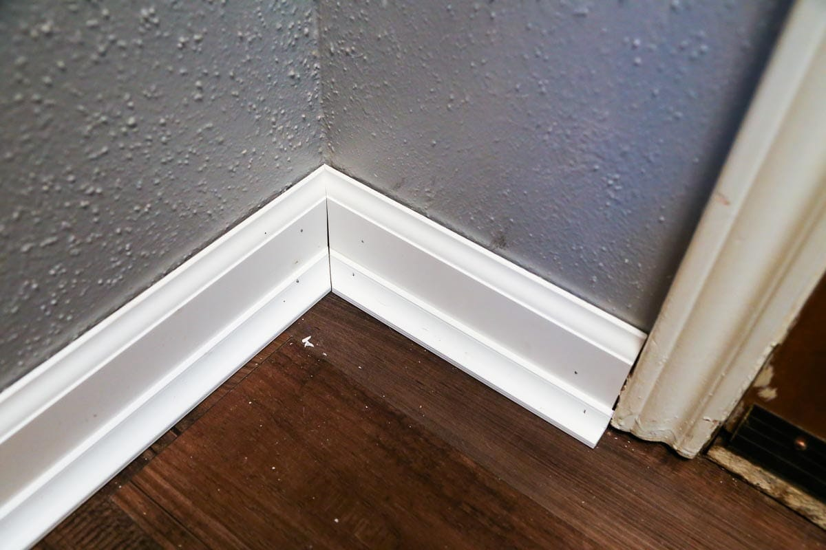 Easy DIY tutorial for how to install baseboards