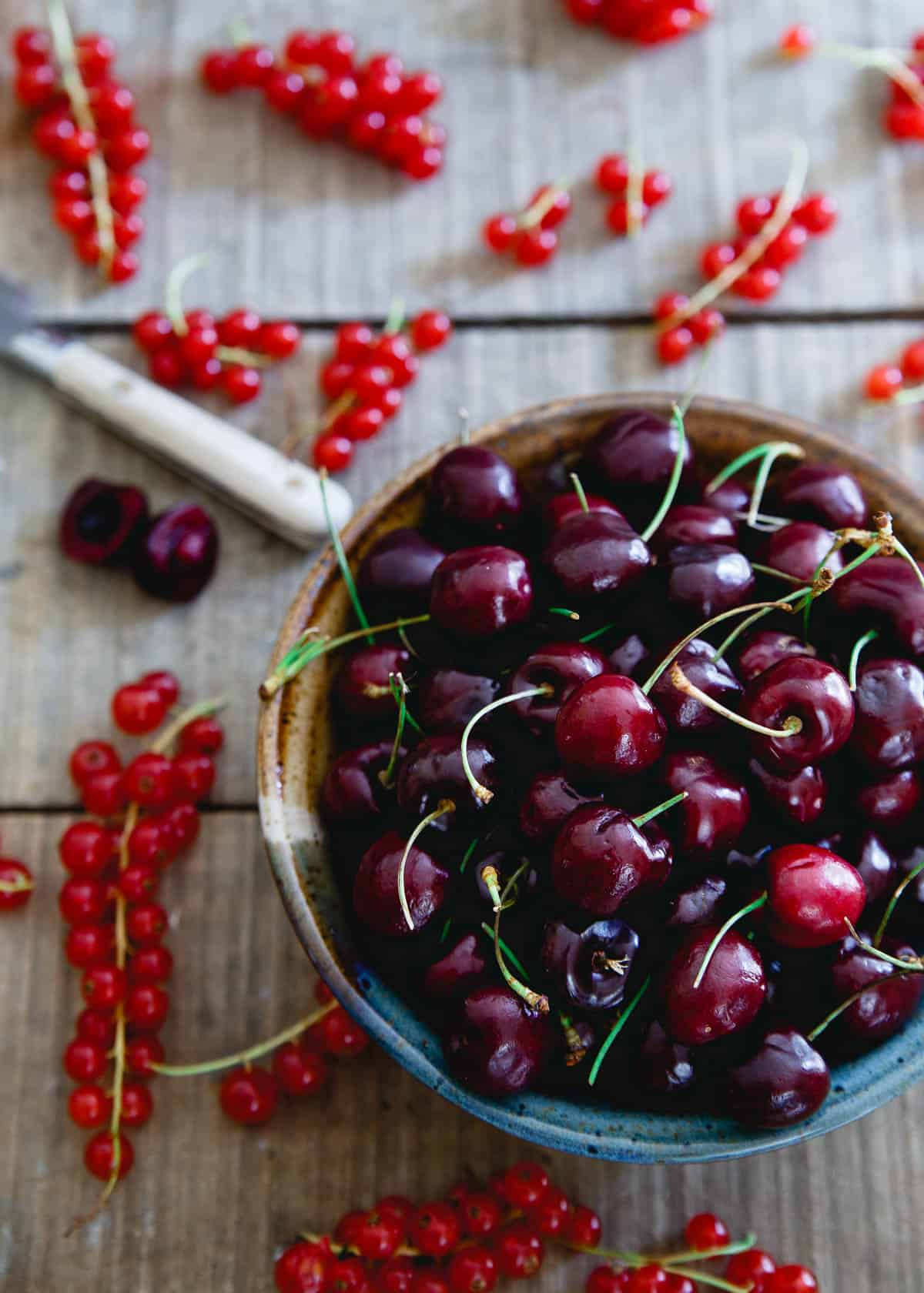 Cherries and Currants make this Baby Kale Chicken Cherry Salad a healthy, light summer meal.