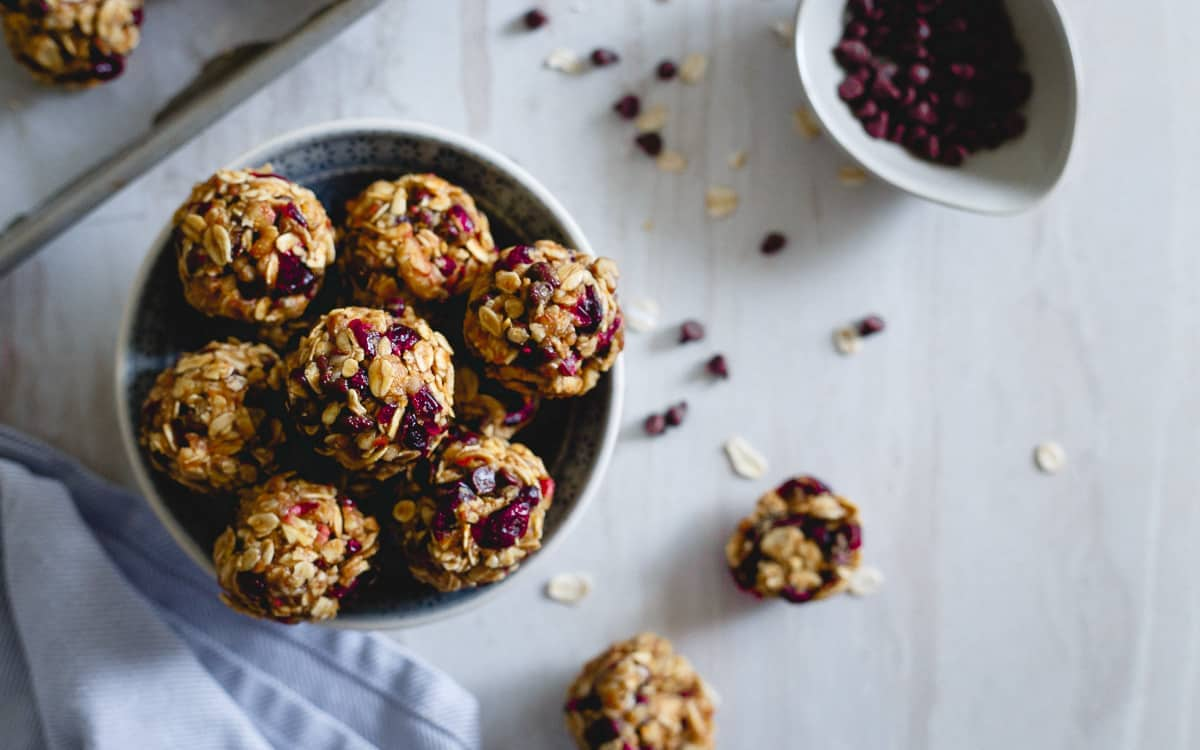 Cranberry orange oatmeal cookie bites make the perfect snack before or after your workout.