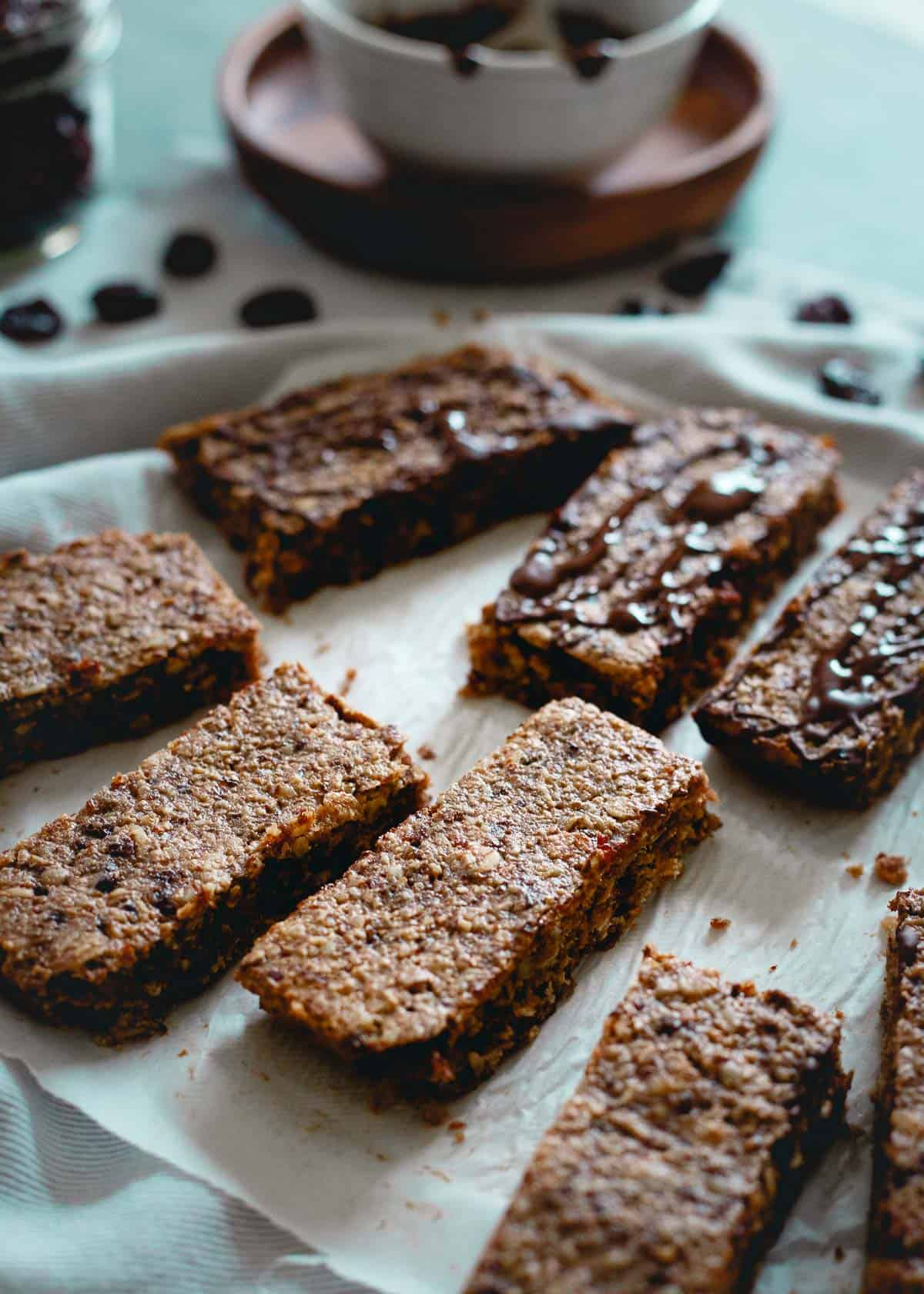 Perfect for eating on the go, these chewy tart cherry oat bars are not only tasty but good for you too!