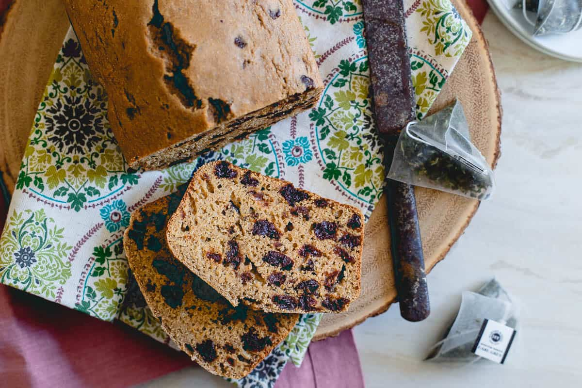 Packed with antioxidants, tart cherries make a nutritious addition to this simple tea bread.